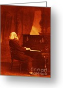 Music Teacher Greeting Cards - Franz Liszt Greeting Card by Pg Reproductions