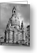 Protestant Greeting Cards - Frauenkirche Dresden - Church of Our Lady Greeting Card by Christine Till