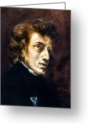 Composer Greeting Cards - Frederic Chopin Greeting Card by Granger