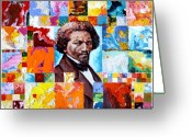 Frederick Greeting Cards - Frederick Douglass Greeting Card by John Lautermilch