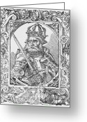 1100s Greeting Cards - Frederick I Barbarossa Holy Roman Emperor Greeting Card by Middle Temple Library