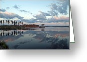 Johannessen Greeting Cards - Fredrika Reflections Greeting Card by Torfinn Johannessen