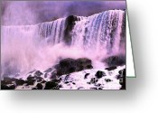 Photographic Art For Sale Greeting Cards - Free Falls Greeting Card by Tom Prendergast
