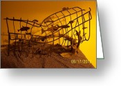 Landscapes Sculpture Greeting Cards - Free Fish Greeting Card by JP Giarde