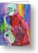 Player Mixed Media Greeting Cards - Free Hat Greeting Card by Michael Lee