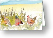 Free Style Greeting Cards - Free Range Greeting Card by Carolyn Doe