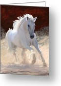 Impressionist Digital Art Greeting Cards - Free Spirit Greeting Card by James Shepherd