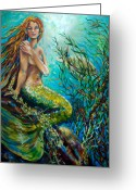 Coral Reef Greeting Cards - Free Spirit Greeting Card by Linda Olsen