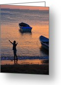 Taganga Greeting Cards - Free Spirit Greeting Card by Skip Hunt