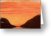 Sunset Sculpture Greeting Cards - Free Willy Greeting Card by Dawn Hay
