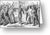 Racism Greeting Cards - Freedmens Bureau, 1868 Greeting Card by Granger