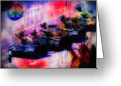 Bill Cannon Mixed Media Greeting Cards - Freedom Greeting Card by Bill Cannon