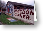 Regiment Greeting Cards - Freedom Corner Mural Greeting Card by Thomas R Fletcher