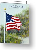 Stretched Canvas Greeting Cards - Freedom Greeting Card by Gerlinde Keating - Keating Associates Inc