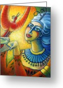 Freedom Painting Greeting Cards - Freedom in Broad Daylight Greeting Card by Angela Treat Lyon
