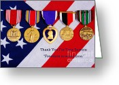 Veterans Day Greeting Cards - Freedom is Never Free Greeting Card by James Bo Insogna