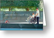 Wounded Warrior Greeting Cards - Freedom is Not Free Greeting Card by Gordon Bell