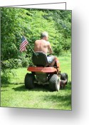 Simplicity Lawn Tractor Photography Greeting Cards - Freedom Isnt Free Greeting Card by Barbara S Nickerson