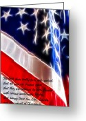 Signing Greeting Cards - Freedom Greeting Card by Stephen Younts