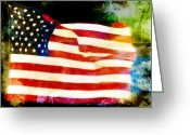4th Of July Photo Greeting Cards - Freedom Greeting Card by Steven  Michael