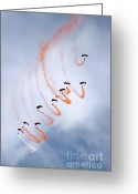 Skydiving Greeting Cards - Freefall Greeting Card by Angel  Tarantella
