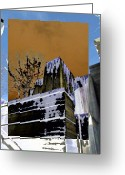 Urban Canyon Greeting Cards - Freeway Park 7 Greeting Card by Tim Allen