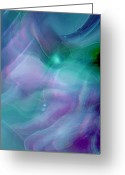 Music Inspired Art Greeting Cards - Freewill Greeting Card by Linda Sannuti
