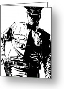 Law Enforcement Greeting Cards - Freeze Greeting Card by Giuseppe Cristiano