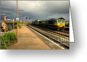 Freight Greeting Cards - Freight at Leamington Spa Greeting Card by Rob Hawkins