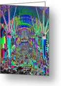 Fremont Street Greeting Cards - Fremont Street Experience Nevada Greeting Card by David Lee Thompson