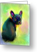 French Bulldog Prints Greeting Cards - French Bulldog painting 4 Greeting Card by Svetlana Novikova