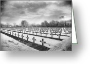 Silver Gelatin Greeting Cards - French Cemetery Greeting Card by Simon Marsden