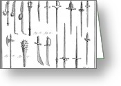 Chivalry Greeting Cards - French Chivalric Weapons Greeting Card by Granger