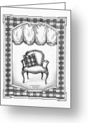 Paper Images Greeting Cards - French Country Fauteuil Greeting Card by Adam Zebediah Joseph