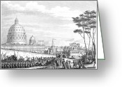 Peter French Greeting Cards - French Enter Rome, 1798 Greeting Card by Granger