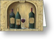 Coat Greeting Cards - French Estate Wine Collection Greeting Card by Marilyn Dunlap
