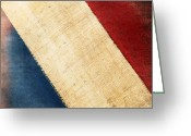 Stripes Greeting Cards - French flag Greeting Card by Setsiri Silapasuwanchai