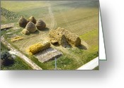 Staley Art Greeting Cards - French Haystacks Greeting Card by Chuck Staley