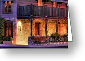 Exclusive Greeting Cards - French Laundry Night 4 Greeting Card by Mars Lasar