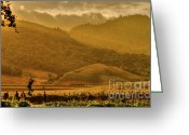 Sundown Greeting Cards - French Laundry Vista Greeting Card by Mars Lasar