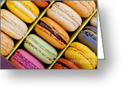 Calories Greeting Cards - French macarons Greeting Card by Sabino Parente