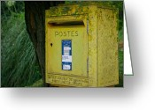 Mail Box Photo Greeting Cards - French Mailbox Greeting Card by Georgia Fowler