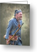 Seven Digital Art Greeting Cards - French Marine Portrait Greeting Card by Randy Steele