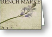 Purple Floral Greeting Cards - French Market Series F Greeting Card by Rebecca Cozart