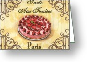 Pink Painting Greeting Cards - French Pastry 1 Greeting Card by Debbie DeWitt