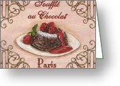 Pink Painting Greeting Cards - French Pastry 2 Greeting Card by Debbie DeWitt