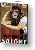 Bara Greeting Cards - French Poster: Salome, 1918 Greeting Card by Granger