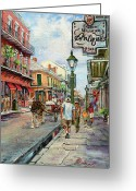New Orleans Artist Greeting Cards - French Quarter Antiques Greeting Card by Dianne Parks
