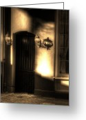 Louisiana Greeting Cards - French Quarter Door Greeting Card by Greg and Chrystal Mimbs