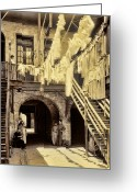 Staircase Greeting Cards - French Quarter Laundry Greeting Card by Marcie Adams Eastmans Studio Photography